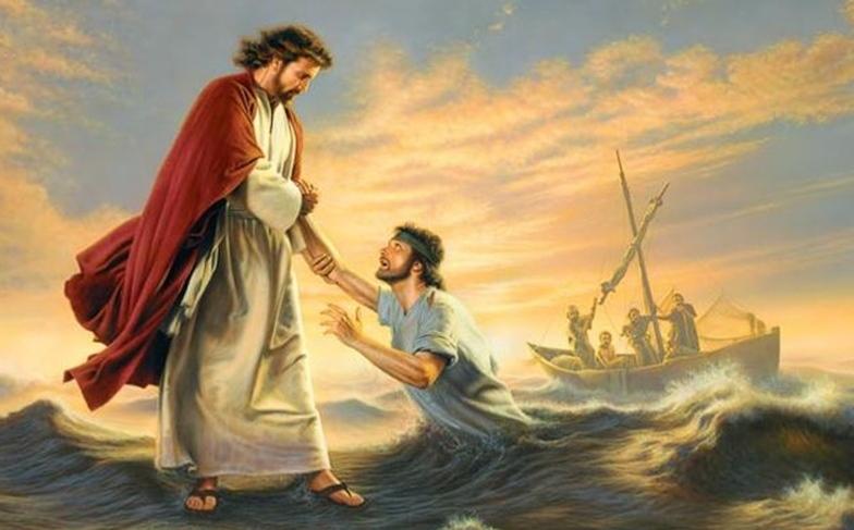 Chúa Giêsu đi trên mặt nước.