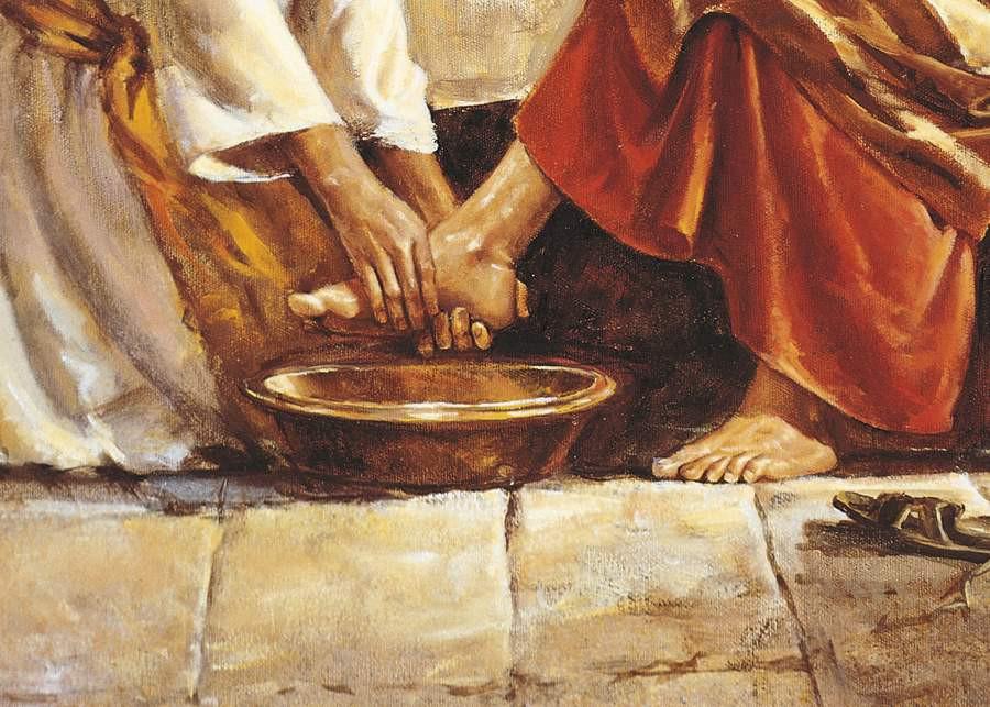 Rửa chân cho nhau